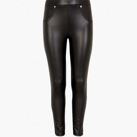 Dievčenské koženkové nohavice