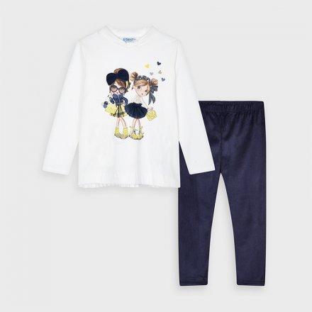 Dievčenský set tričko a semišové legíny