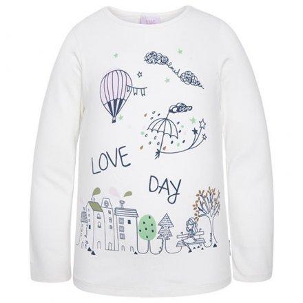 428e819e8dcb Dievčenské tričko s dlhým rukávom a s potlačou TUCTUC 39714-NATA