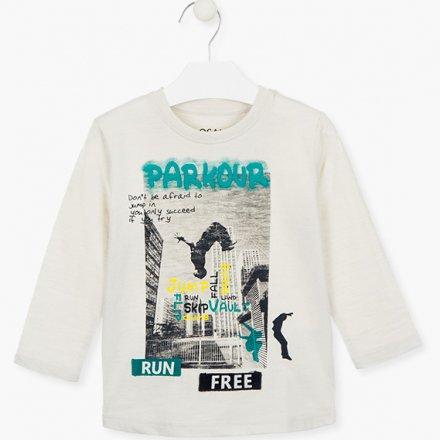 Chlapčenské tričko s dlhým rukávom a  farebnou potlačou