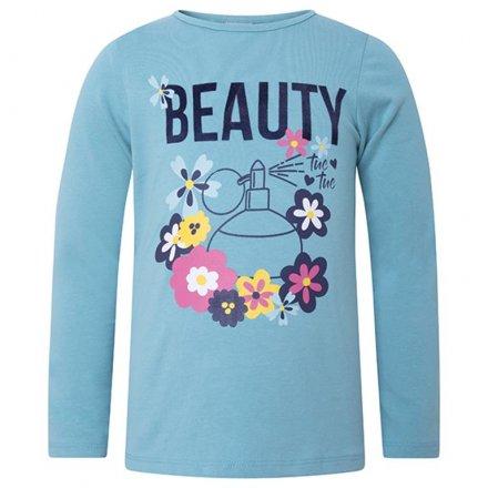 Dievčenské tričko s dlhým rukávom a s milou potlačou
