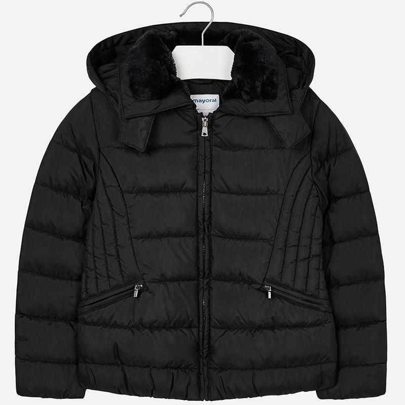 03a3bce6b Dievčenský zimný kabát s odopínateľnou kapucňou Mayoral - 00416-022 ...
