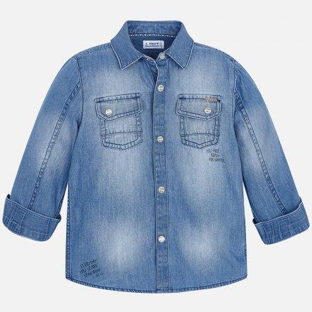 Chlapčenská džínsová košeľa