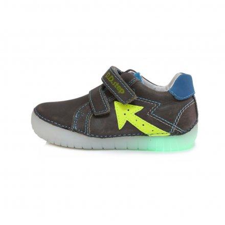 Chlapčenské kožené blikajúce prechodné topánky-Grey