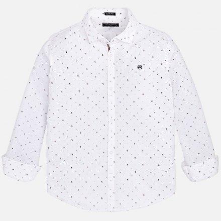 Vzorovaná košeľa z bavlny s dlhým rukávom a s klasickým golierom