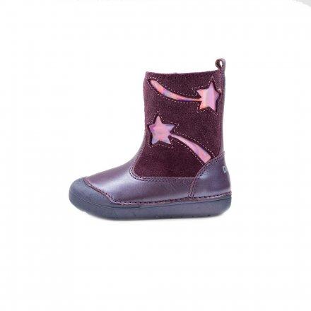 Dievčenské čižmy zateplené s kožušinkou-Violet