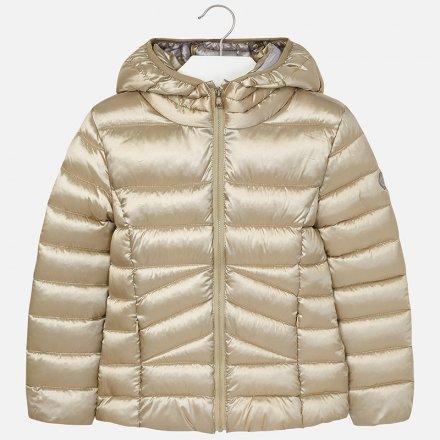 Dievčenská  prešívaná zimná bunda s kapucňou