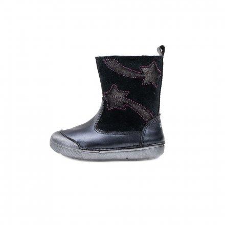 Dievčenské čižmy zateplené s kožušinkou-Black