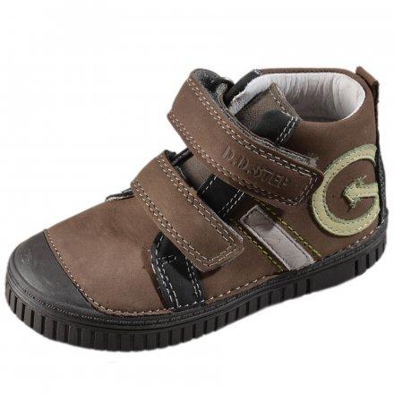 Chlapčenské  prechodné kožené topánky-Dark grey