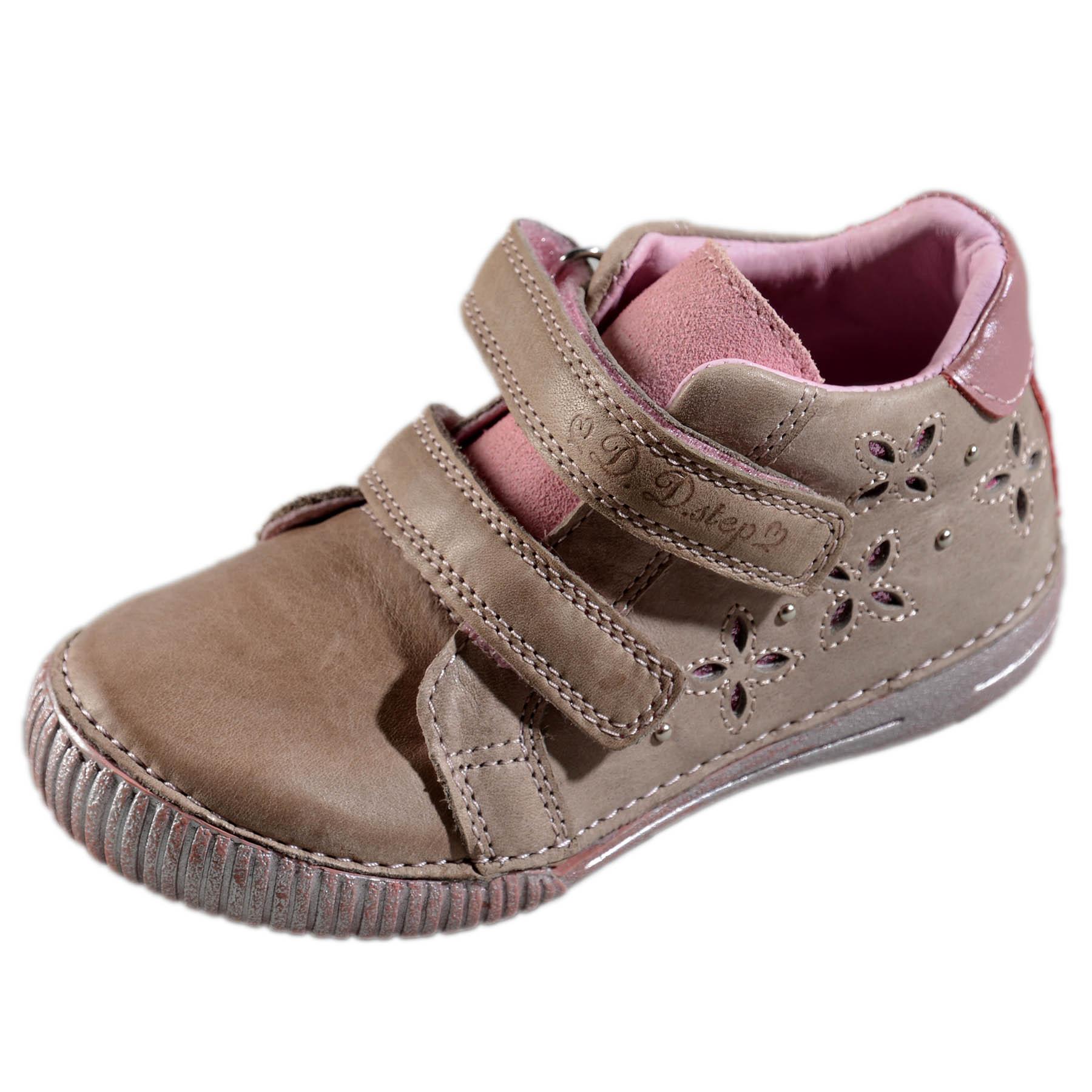 93e7a31261c0 Dievčenské prechodné kožené topánky-Pink DDstep - 036-704M ...