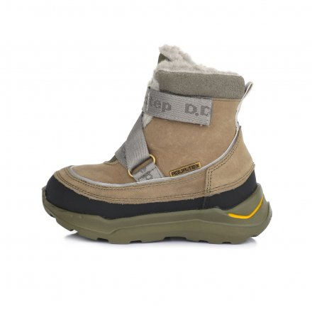 Chlapčenské zimné topánky zateplené s kožušinkou-Khaki