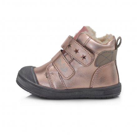 Dievčenské zimné topánky zateplené s kožušinkou-Metalic Pink-