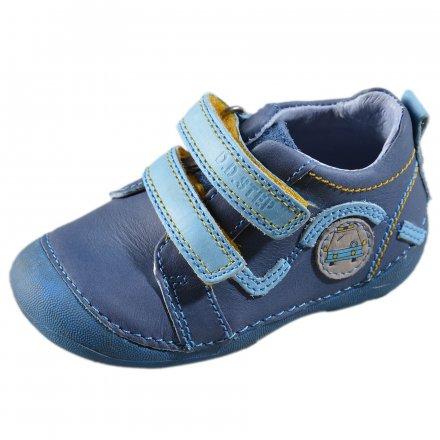 Chlapčenské prechodné kožené topánky-Royal blue