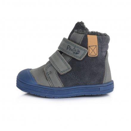 Chlapčenské zimné topánky zateplené s kožušinkou-DARKGrey