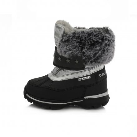 Dievčenské snehule zateplené s kožušinkou-Black