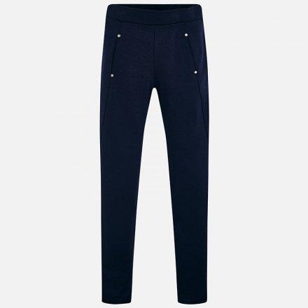 Dievčenské nohavice s vreckami