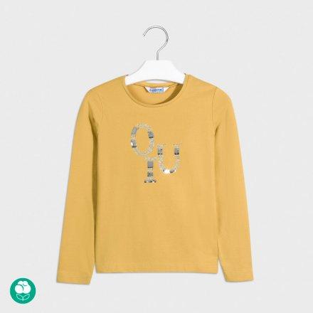 Dievčenské tričko s dlhým rukávom  s kamienkami