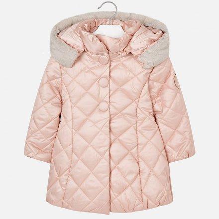 Dievčenská prešívaná zimná bunda s kapucňou f79fed1e8d9