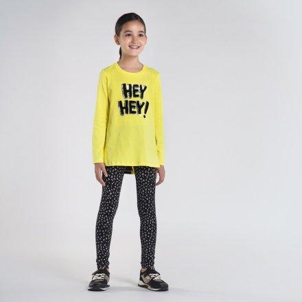 Dievčenská súprava tričko s flitrami a vzorované legíny
