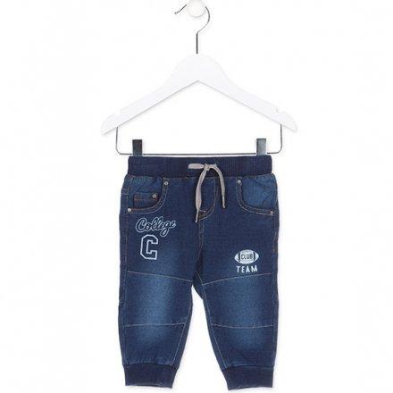 Chlapčenské riflové nohavice s potlačou