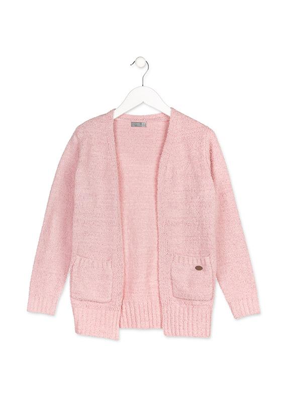 606e1ee9e18e Dievčenský pletený sveter s vreckami Losan - 824-5004