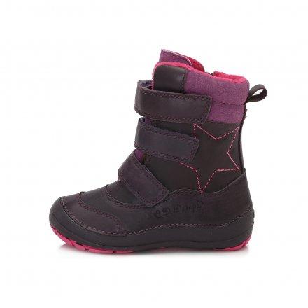 Dievčenské zimné topánky zateplené s kožušinkou-