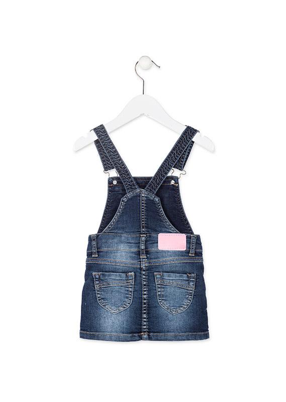 af406bc4b658 Dievčenské riflové šaty na traky s nášivkami Losan - 826-7012 ...