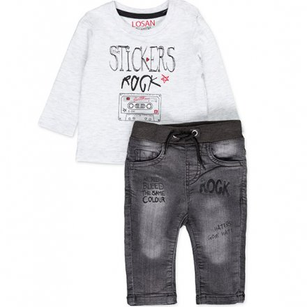 Chlapčenská súprava tričko a riflové nohavice