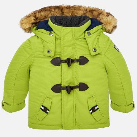 Chlapčenská zateplená zimná bunda s kapucňou