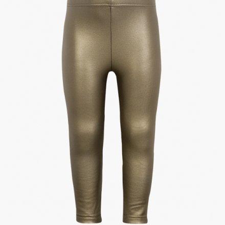 Dievčenské elastické koženkové nohavice