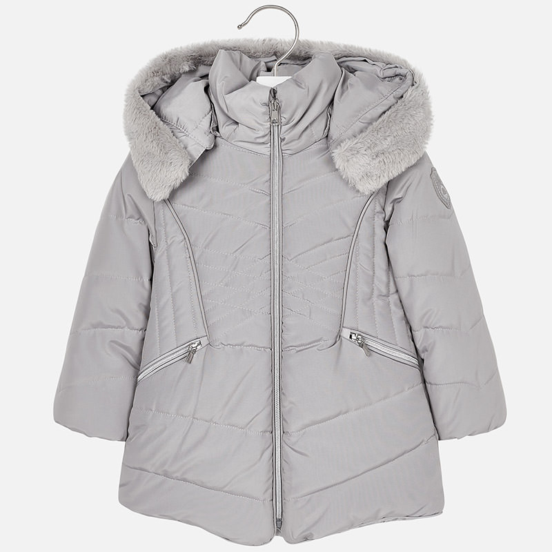 Dievčenská zimná bunda  kapucňou