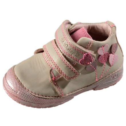 Dievčenské  prechodné kožené topánky-Cream