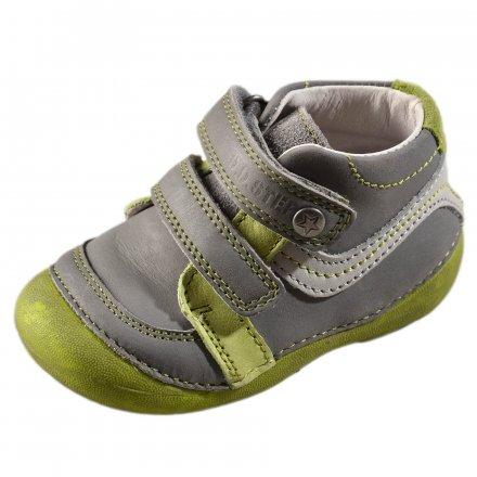 Chlapčenské prechodné kožené topánky-Khaki