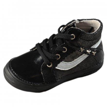 Dievčenské prechodné kožené topánky-Black