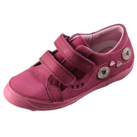 Dievčenské  prechodné kožené topánky-Violet