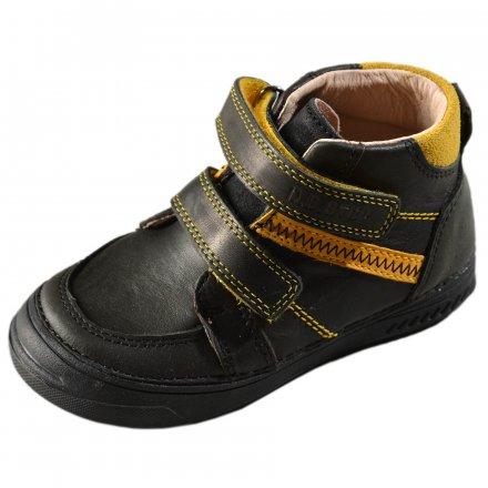 Chlapčenské prechodné kožené topánky-Black