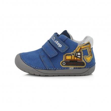 Chlapčenské  kožené prechodné topánky-Barefoot-Bermuda  Blue