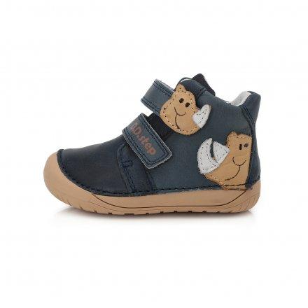Chlapčenské kožené prechodné topánkyBarefoot-Royal Blue