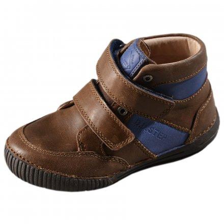 Chlapčenské prechodné kožené topánky-Chocolate