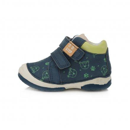 Chlapčenské kožené prechodné topánky-Bermuda Blue Blue