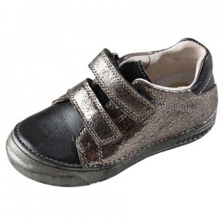 Dievčenské prechodné kožené topánky -Champagne