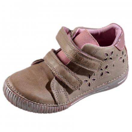 Dievčenské prechodné kožené topánky-Pink