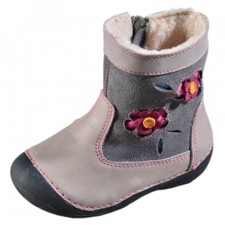 Dievčenské čižmy zateplené s kožušinkou-Grey