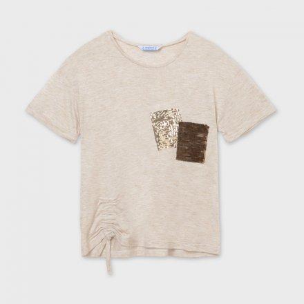 Dievčenské tričko s krátkym rukávom zdobená s flitrami