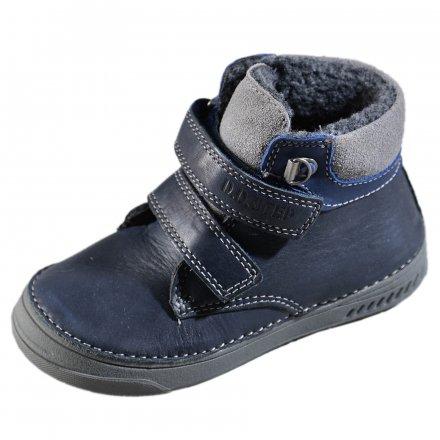 Chlapčenské zimné topánky zateplené s kožušinkou-Bermuda Blue