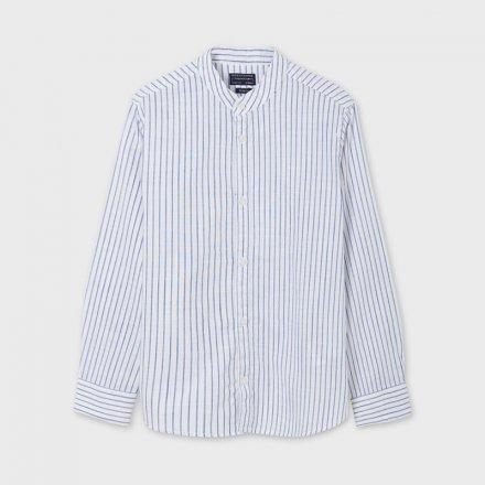 Chlapčenská pruhovaná košeľa bez goliera