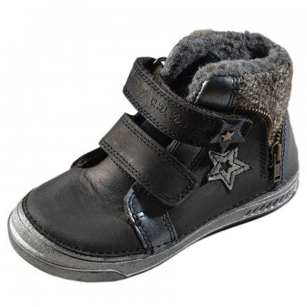 Dievčenské zimné topánky zateplené s kožušinkou-Black