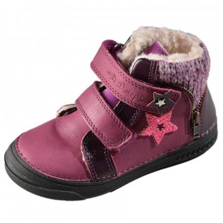 Dievčenské zimné topánky zateplené s kožušinkou-Violet