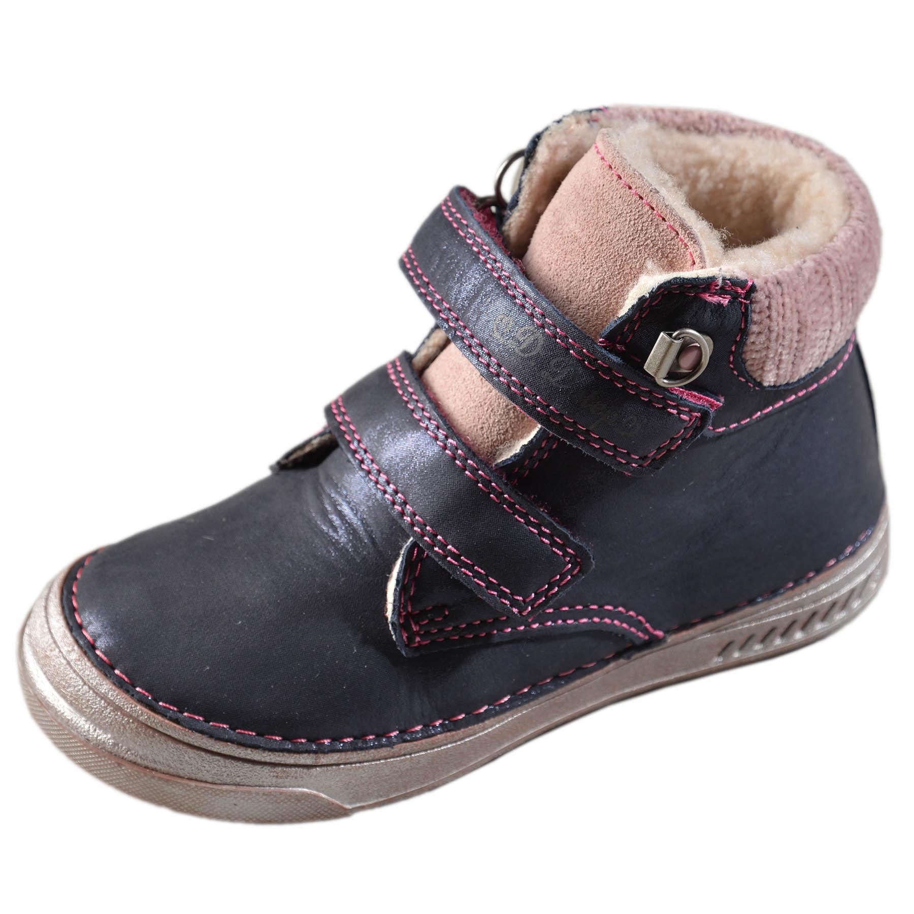 Dievčenské zimné topánky zateplené s kožušinkou-Royal Blue DDstep ... 814038b6b70