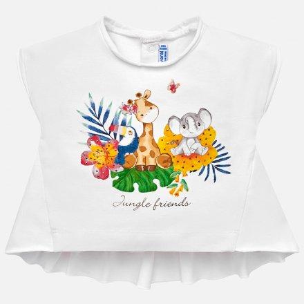 Dievčenské tričko s krátkym rukávom s volánikom